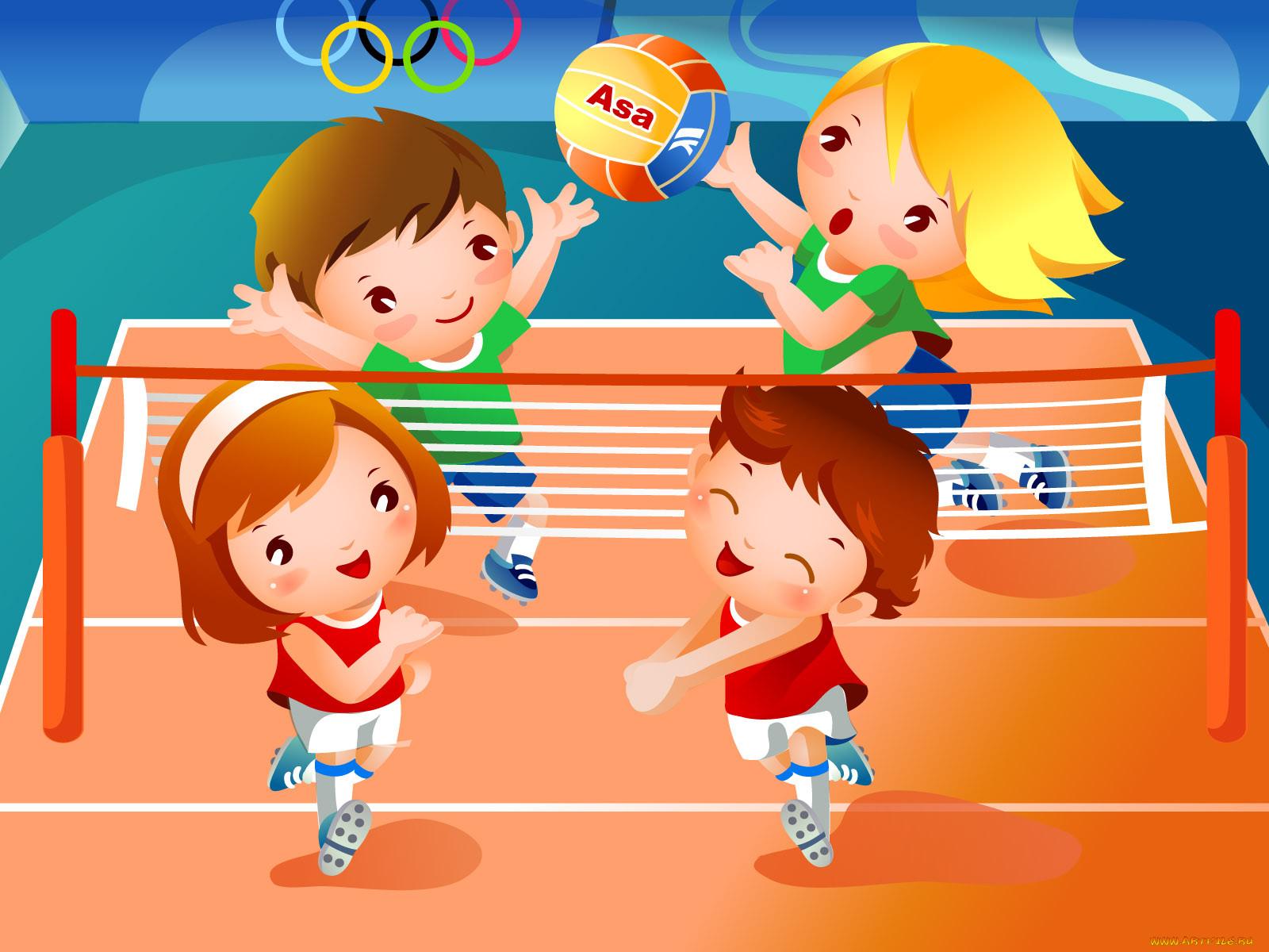 Веселые детские картинки о спорте